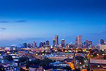 The skyline and the Lower Garden District of New Orleans, Louisiana.