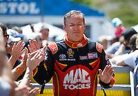 Jun 19, 2016; Bristol, TN, USA; NHRA top fuel driver Doug Kalitta during the Thunder Valley Nationals at Bristol Dragway. Mandatory Credit: Mark J. Rebilas-USA TODAY Sports