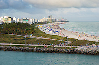Miami South Beach from the Main Channel, Miami, Florida
