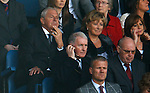 Walter Smith and Ethel taking in the action at Ibrox