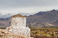 Ancient buddhist stupa on the way to Stakna Monastery,  Leh, Jammu and Kashmir,  India