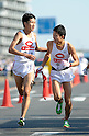 (L to R) Akihiro Atsumi (Chuo-Univ), Shota Shinjo (Chuo-Univ), JANUARY 2, 2012 - Athletics : The 88th Hakone Ekiden Race Hiratsuka Relay place in Kanagawa, Japan. (Photo by Atsushi Tomura/AFLO SPORT) [1035].