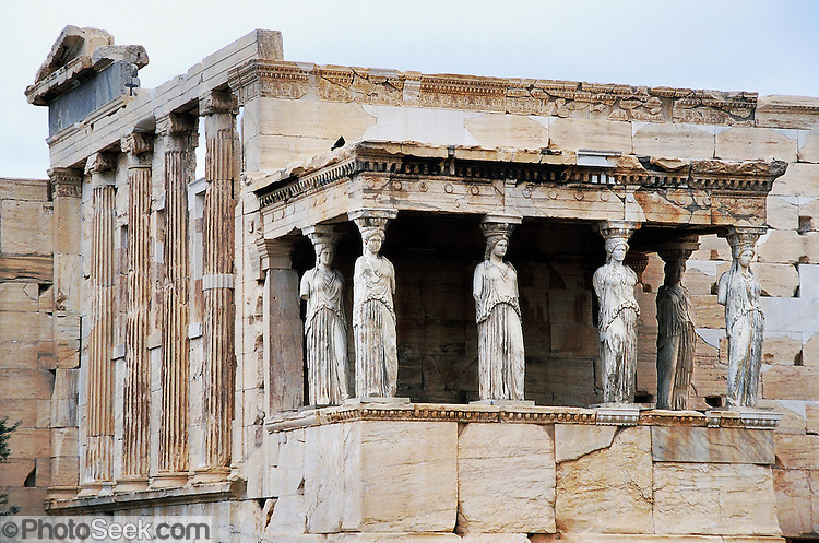 Porch of the Caryatids, Erechtheion, Acropolis, Athens ...