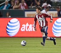 Chivas USA midfielder Ben Zemanski (21) moves the ball across the field during the second half of the game between Chivas USA and the Philadelphia Union at the Home Depot Center in Carson, CA, on July 3, 2010. Chivas USA 1, Philadelphia Union 1.
