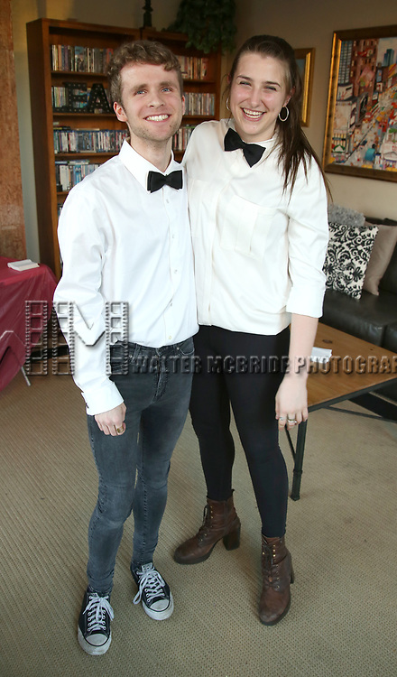 Sam Flynn and Leah Lane attend The Drama League: Meet The Directing Fellows Hosted By Stewart F. Lane & Bonnie Comley at a private residence on May 15, 2017 in New York City.