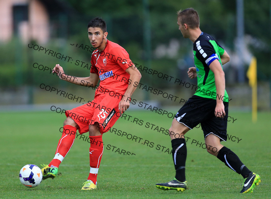 Fudbal season 2013-2014<br /> FK Crvena Zvezda pripreme<br /> Prijateljski mec<br /> Crvena Zvezda v Verzej<br /> Marko Grujic (L)<br /> Brezice, 07.09.2014.<br /> foto: Srdjan Stevanovic/Starsportphoto &copy;