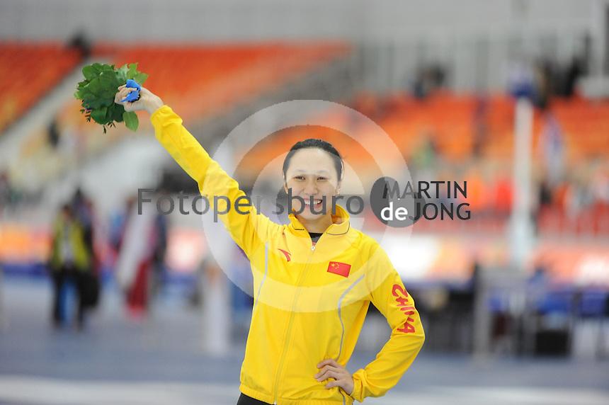 OLYMPICS: SOCHI: Adler Arena, 13-02-2014, 1000m Ladies, podium, Hong Zhang (CHN), ©foto Martin de Jong