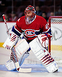 17 October 2009: Montreal Canadiens goaltender Jaroslav Halak warms up prior to facing the Ottawa Senators at the Bell Centre in Montreal, Quebec, Canada. The Senators defeated the Canadiens 3-1. Mandatory Credit: Ed Wolfstein Photo