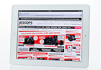 Apple Ipad showing Jessops Website  - Jan 2013.