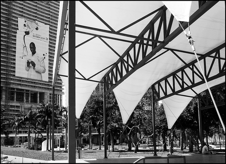 From &quot;Life to Waste&quot; series.<br /> Bayside park, Downtown Miami, FL