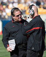20 October 2007: Cincinnati Bearcats head coach Brian Kelly (with glasses)..The Pitt Panthers defeated the Cincinnati Bearcats 24-17 on October 20, 2007 at Heinz Field, Pittsburgh, Pennsylvania.