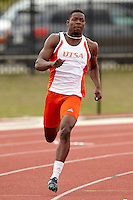 SAN ANTONIO, TX - APRIL 9, 2016: The University of Texas at San Antonio hosts the Roadrunner Invitational Track & Field Meet at the Park West Athletics Complex. (Photo by Jeff Huehn)