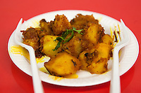 Dhaulagiri Kitchen, a tiny Nepalese restaurant in Jackson Heights. Pictured, Aloo Dum.  <br /> <br /> Danny Ghitis for The New York Times