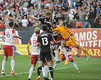 Washington D.C. - April 11, 2015: The New York Red Bulls tied D.C. United 2-2 during a game of the 2015 Major League Soccer season at RFK Stadium.