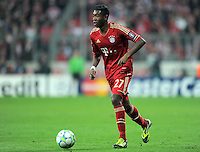 FUSSBALL   CHAMPIONS LEAGUE   SAISON 2011/2012   ACHTELFINALE RUECKSPIEL     13.03.2012 FC Bayern Muenchen - FC Basel        David Alaba (FC Bayern Muenchen) am Ball