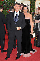 Pierce Brosnan & wife at the 66th Annual Golden Globe Awards at the Beverly Hilton Hotel..January 11, 2009 Beverly Hills, CA.Picture: Paul Smith / Featureflash