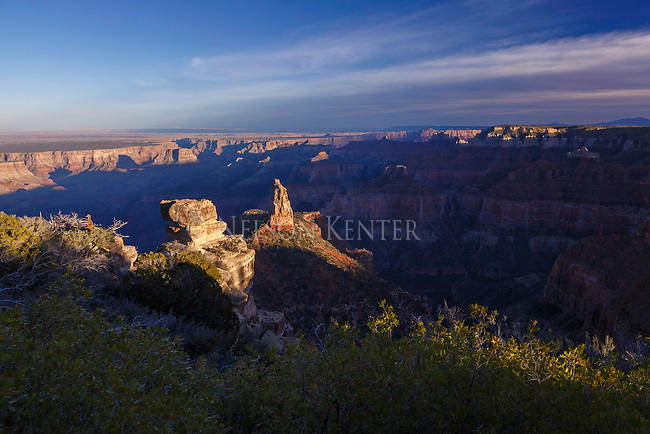 View of point imperial and the grand canyon from the point imperial overlook on the north rim