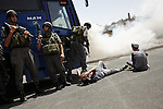 Israeli Defense Forces (IDF) drill for a suicide bombing in the Israeli controlled part of Hebron.