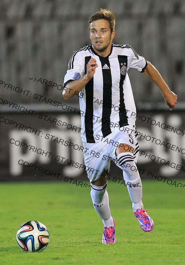 Fudbal Football Soccer<br /> UEFA Champions league-2nd qualifying round<br /> Partizan v HB Torshavn (Faroe Islands)<br /> Nemanja Petrovic<br /> Beograd, 07.15.2014.<br /> foto: Srdjan Stevanovic/Starsportphoto &copy;