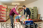 Pat Murphy and Robert Carey, Project Managers for Food Share Kerry at the tRalee Food Bank.