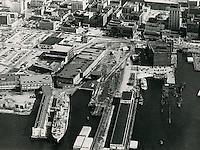 UNDATED..Historical..Aerial view Freemason Harbor...NEG#.NRHA#..