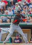 19 March 2015: Miami Marlins infielder Dee Gordon in Spring Training action against the Atlanta Braves at Champion Stadium in the ESPN Wide World of Sports Complex in Kissimmee, Florida. The Braves defeated the Marlins 6-3 in Grapefruit League play. Mandatory Credit: Ed Wolfstein Photo *** RAW (NEF) Image File Available ***