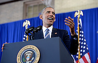 United States President Barack Obama speaks during a visit to Benjamin Banneker Academic High School to highlight the progress that has been made by his administration over the last eight years to improve education across the country on October 17, 2016 in Washington, DC. <br /> Credit: Olivier Douliery / Pool via CNP /MediaPunch