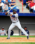 9 March 2010: Detroit Tigers' infielder Audy Ciriaco in action during a Spring Training game against the Washington Nationals at Space Coast Stadium in Viera, Florida. The Tigers defeated the Nationals 9-4 in Grapefruit League action. Mandatory Credit: Ed Wolfstein Photo