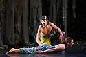 London, UK. 12.11.2012. Jasmin Vardimon Company presents FREEDOM at Sadler's Wells. Dancers are: Julia Robert Pares, Esteban Fourmi. Photo credit: Jane Hobson.