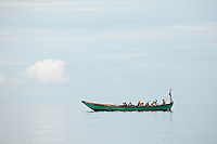 A fishing boat enjoys tranquil seas near Koh Kong island on Cambodia's south coast.