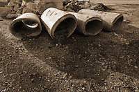 Drainage Pipes. Additional View taken during Construction Progress Photography of the Railroad Station at Fairfield Metro Center - Site visit 5 of once per month Chronological Documentation.