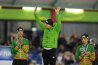 SCHAATSEN: HEERENVEEN: 25-10-2013, IJsstadion Thialf, NK afstanden, 5000m, Jorrit Bergsma, Sven Kramer, Bob de Jong, ©foto Martin de Jong