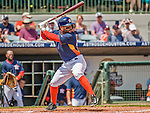22 March 2015: Houston Astros infielder Jose Altuve leads off the bottom of the first inning in a Spring Training game against the Pittsburgh Pirates at Osceola County Stadium in Kissimmee, Florida. The Astros defeated the Pirates 14-2 in Grapefruit League play. Mandatory Credit: Ed Wolfstein Photo *** RAW (NEF) Image File Available ***