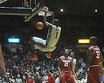 "Ole Miss forward Terrance Henry (1) dunks at C.M. ""Tad"" Smith in Oxford, Miss. on Saturday, March 5, 2010. Ole Miss won 84-74. Henry was called for a technical foul for hanging on the rim."