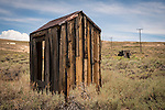 Outhouse in the historic gold mining ghost town of Bodie, California, a California State Park
