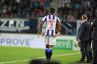 VOETBAL: HEERENVEEN: Abe Lenstra Stadion 29-08-2015, SC Heerenveen - PEC Zwolle, uitslag 1-1, Kenneth Otigba (#3), ©foto Martin de Jong