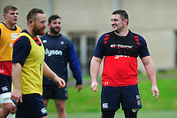 Shaun Knight of Bath Rugby looks on. Bath Rugby training session on November 22, 2016 at Farleigh House in Bath, England. Photo by: Patrick Khachfe / Onside Images