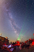Once the sky got dark, the Milky Way shone across the summer sky. Laser-guided tours of the night sky were popular, as expert astronomers pointed out the highlights of the summer sky...Public and local astronomers gathered at the Rothney Astrophysical Observatory on July 21, 2012 for one of the annual Milky Way Nights presented by the RAO. From 10 pm to 2 am several hundred people stargazed under clear skies, enjoyed the naked eye views of the Milky Way and telescopic views of deep-sky objects such as nebulas and galaxies. Volunteers from the Calgary Centre of the Royal Astronomical Society of Canada and staff from TELUS Spark helped present the stars to the public.