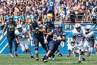 Pitt running back James Conner. The Pitt Panthers defeated the Penn State Nittany Lions 42-39 at Heinz Field, Pittsburgh, Pennsylvania on September 10, 2016.