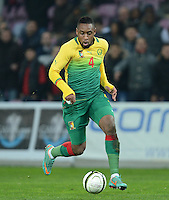 FUSSBALL   INTERNATIONAL   Testspiel    Albanien - Kamerun       14.11.2012 Jean Armel Kana Biyik (Kamerun) am Ball