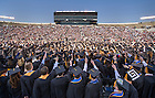 May 18, 2014; The 2014 Commencement ceremony in the Notre Dame Stadium. Photo by Barbara Johnston/University of Notre Dame