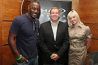 NO REPRO FEE. 14/9/2010. launch of Halo: Reach. Pictured at the Odeon Dublin for the launch of Halo: Reach star of HBO's The Wire (Stringer Bell) Idris Elba, Kieran Penwill and Jackie Brannigan.Halo: Reach tells the tragic and heroic story of Noble Team, a group of Spartans, who through great sacrifice and courage, saved countless lives in the face of impossible odds. Picture James Horan/Collins Photos