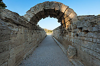 Krypte is the Stadium Monumental Entrance (5th cent. B.C.) in Olympia, Greece