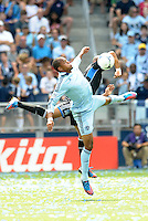Kansas City forward Teal Bunbury (9) in action... Sporting Kansas City defeated San Jose Earthquakes 2-1 at LIVESTRONG Sporting Park, Kansas City, Kansas.