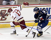 Cam Atkinson (BC - 13), Robert Kay (Toronto - 20) - The Boston College Eagles defeated the visiting University of Toronto Varsity Blues 8-0 in an exhibition game on Sunday afternoon, October 3, 2010, at Conte Forum in Chestnut Hill, MA.