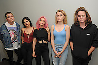 FORT LAUDERDALE, FL - NOVEMBER 01: Hey Violet pose for a portrait at radio Station Y-100 on November 1, 2016 in Fort Lauderdale, Florida. Credit: mpi04/MediaPunch