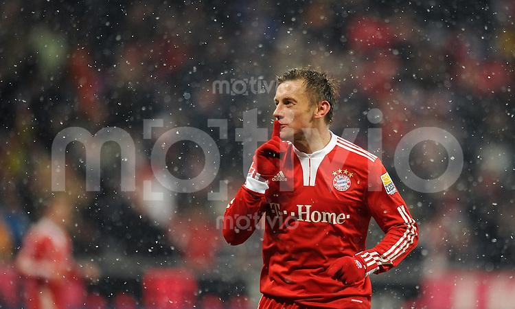 Fussball 1. Bundesliga :  Saison   2009/2010   17. Spieltag  19.12.2009 FC Bayern Muenchen - Hertha BSC Berlin ,  JUBEL von Ivica Olic (FCB)