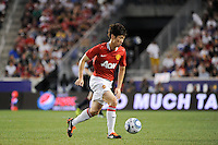 Ji-Sung Park (13) of Manchester United. Manchester United defeated the MLS All-Stars 4-0 during the MLS ALL-Star game at Red Bull Arena in Harrison, NJ, on July 27, 2011.