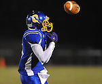 Oxford High's Stan Ivy (6) drops a pass vs. Senatobia in high school football in Oxford, Miss. on Friday, September 9, 2011. Oxford won 40-20.