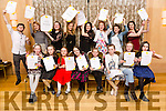 Singing Students from  voice teacher Bryan Carr, were presented with their certificates from the Irish Board of Speech & Drama at a recital evening for their family and friends at the Pavilion Ballygarry on Sunday Pictured Front l-r Kyla Shine, Sinead Carr, Aoife Casey, Fiona O'Connor, Anna McCarthy, Kealey Hussey, Hannah Willoughby, Abigail Foley. Back Ryan O'Sullivan, Eleanor Feeley, Ursula Earley, Janna Foley, Ciara McCarthy, Laura Daly, Megan Tearle, Aoife O'Mahony, Bryan Carr, Singing Director
